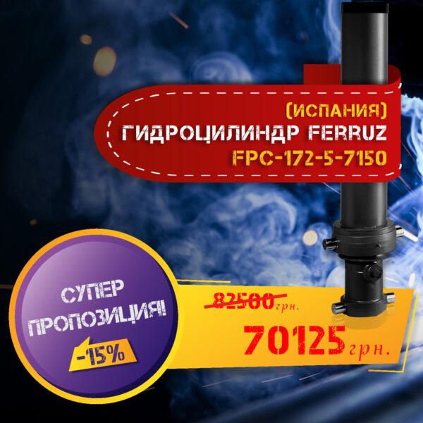 Гидроцилиндр фронтальный 5-штоковый Ferruz