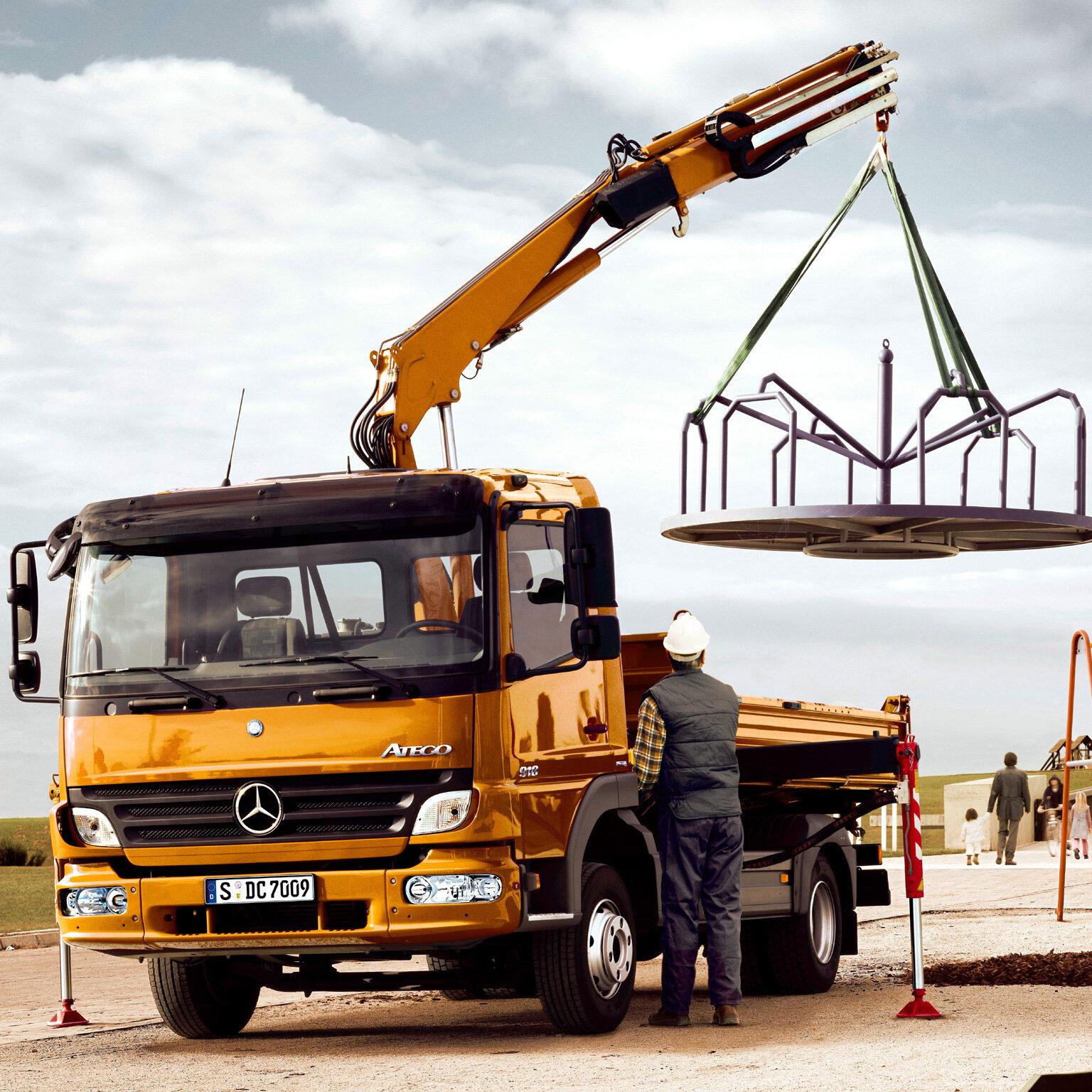 Гидравлика на тягач Mercedes