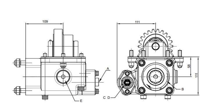 Коробка отбора мощности для MAZ YAMZ-236-238