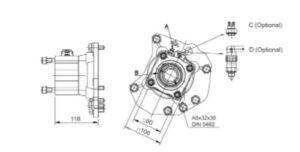 Коробка отбора мощности для Mercedes Actros G1000